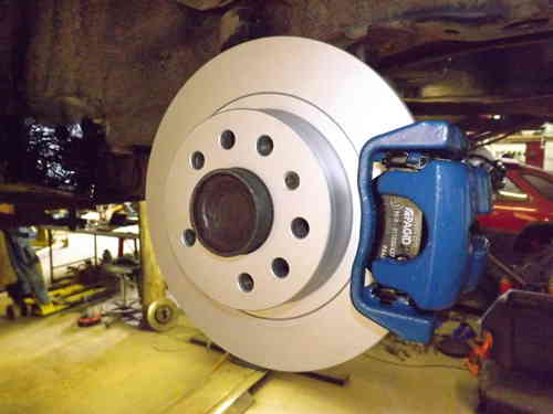 VXR rear brake conversion plates + Pagid zinc coated discs