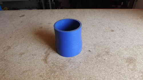 "2.5""- 2.25""  Blue silicone reducer 3"" long"