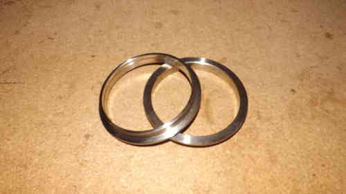 "3.75"" V band flanges - 304 stainless steel , perfect for exhaust systems"