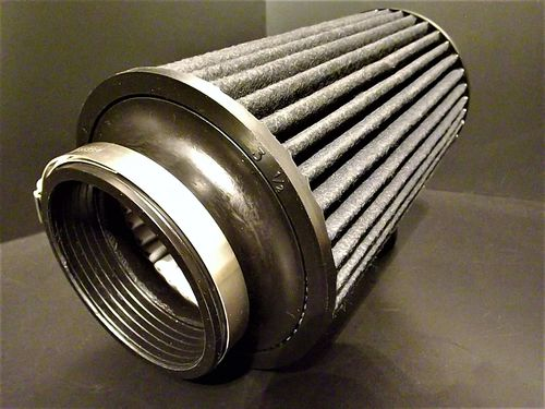 "AEM Brute Force Air Filter 3.5"" fitment 9"" long"