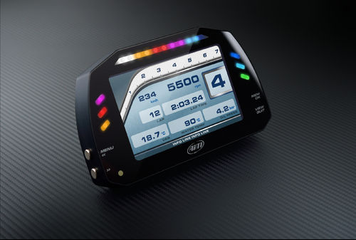 Aim MXS Strada Race Dash with GPS lap timing
